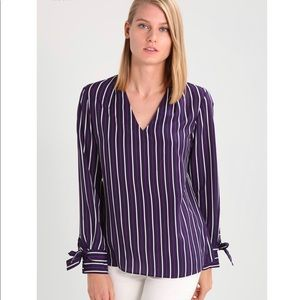 Banana Republic Striped Ansel Blouse NWT
